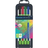 Schneider Line-Up Fineliner Pen (Pack of 4, Multicolor)
