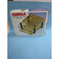 Omega Executive Plastic File Tray With Top (1758/2)
