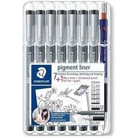 Staedtler Pigment Liner Set Assorted 7+ 1 Lead Pencil (308 SB 8P)