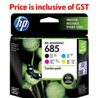 HP 685 CMYK Combo (Cyan, Magenta, Yellow, Black) Ink Cartridges Pack