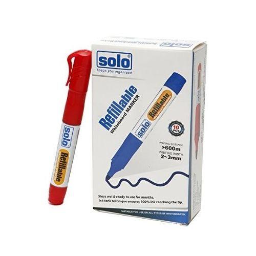 Solo White Board Marker (Red, 10 Pcs)