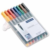 Staedtler Luma Colour Pens Fine Permanent (Set of 8 Colours) 318 WP 8