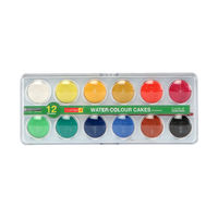 Camel Student Junior Water Colour Cakes, 12 Shades