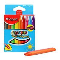 Maped Color Peps Wax Crayons(18 shades)