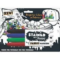 Sharpie Stained Brush Tip Fabric Marker Assorted (Pack of 4) (SAN 1779004)