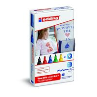 Eddding Textile Marker set of 5 different colours(e-4500/5s)