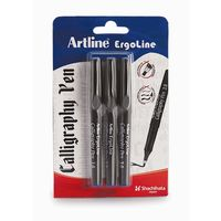 Artline Ergoline Calligraphy Pen -Blue (3 Pcs with 1.0, 2.0, 3.0 Tips)