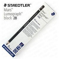 Staedtler Mars Lumograph Black Artist Pencils 100B 4B, Pack of 4