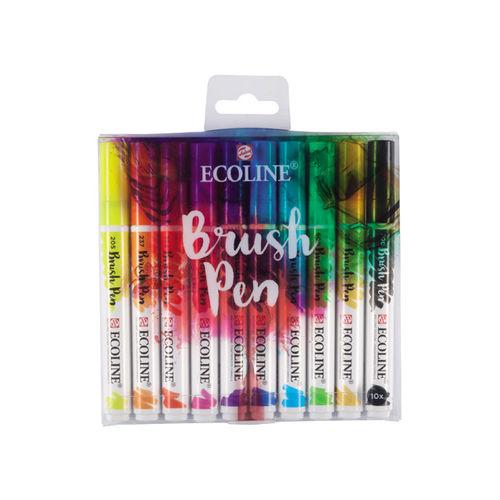 Royal Talens Ecoline Brush Pen Set 10 Shades
