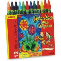Kores Lamboo Wax Crayons LC 12 (Pack of 10)