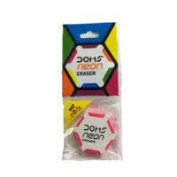 Doms Neon Hex Dust Free Eraser (Pack of 20)