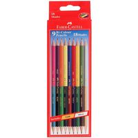 Faber Castell Bi-Colour Pencil, 9 Shades