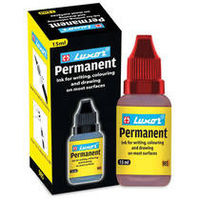 Luxor Multi Mark Permanent Ink (Red, 15ml, 10pcs)