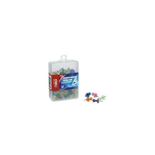 Deli Translucent Colour Push Pins 23mm W0030 (Pack of 6)