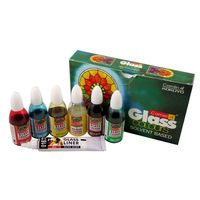 Camel Solvent Based Glass Color (20ml each, 5 Shades)