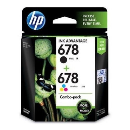 HP 678 Combo Ink Cartridge Pack (Tri Colour & Black)
