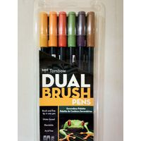 Tombow Dual Brush Pen 6 Shades (ABT-6C SE)