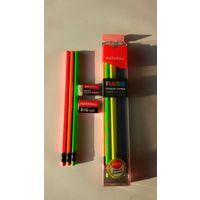 Nataraj FLURO Rubber Tipped Super Dark Neon Pencils - Packs of 10