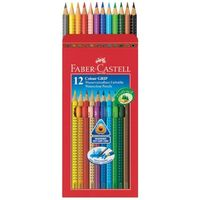 Faber Castell Colour Grip Water Colour Pencil, 12 Shades
