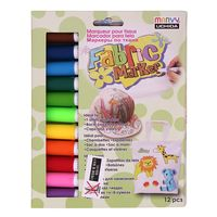 Marvy Fabric Markers (12 Colours)