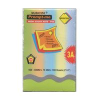 Prompt me Sticky Notepad Green 2X3 (Pack of 6)