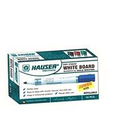 Hauser H6002 Whiteboard Marker, Green (Pack of 4)