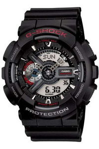 G-shock Men's Resin Band Watch GA-110-1A, grey, black, black