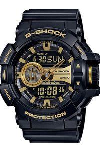 Men's Resin Band Watch -GA-400GB, black/gold, black, black