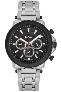 Men's Super Metal Band Watch - LC06183, silver, silver, black