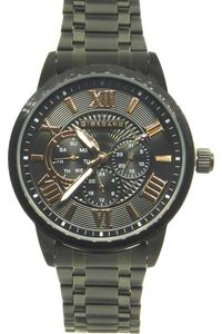 Giordano Men's Watch Multi Function Display- 1827-55, black, black/gold
