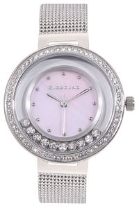 Giordano Women's's Watch Analog Display- 2838-22, silver, mop pink