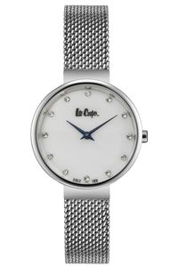 Women's Super Metal Band Watch -LC06625, mop white, silver, silver
