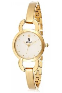 Stylo Women's Stainless Steel Band Watch - S7545-GBGB, silver, ip gold, ip gold