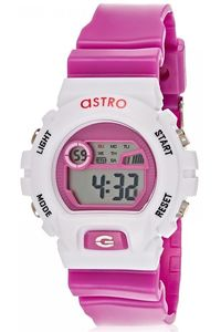 Astro Kids Purple Plastic Watch - A8901-PPPS, purple, silver, white