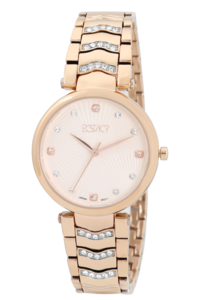Women's Stainless Steel Band Watch -E7520, rose gold, rose gold, rose gold