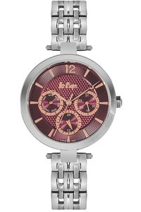 Women's Super Metal Band Watch - LC06241, silver, silver, purple