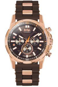 Men's Resin Band Watch -LC06360, brown, brown, rose gold