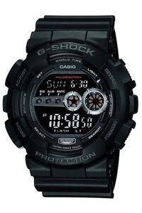 Men's Resin Band Watch -GD-100, black, black, black
