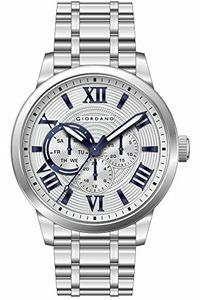 Giordano Men's Watch Multi Function Display- 1827-22, silver, white