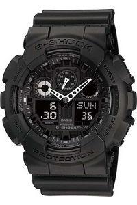 G-shock Men's Resin Band Watch GA-100-1A1, black, black, black