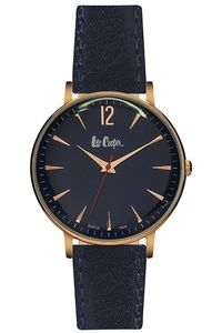 Women's Leather Band Watch - LC06379, black, rose gold, blue