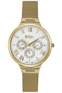 Women's Super Metal Band Watch - LC06521, white, gold, gold