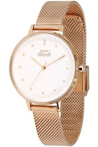 Women's Stainless Steel Band Watch - SL. 9.6063, white, rose gold, rose gold