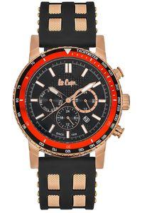 Men's Resin Band Watch - LC06167, black, gold, black