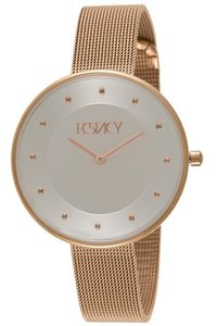 Women's Stainless Steel Band Watch -E5519, rose gold, silver, rose gold