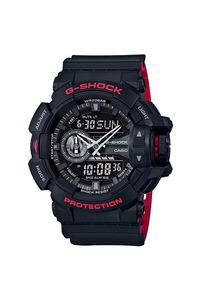 G-shock Men's Resin Band Watch GA-110HR-1A, black, black, black/red