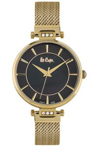 Women's Super Metal Band Watch - LC06507, gold, gold, black