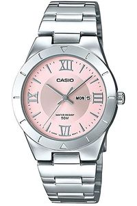 Women's Stainless Steel Band Watch - LTP-1410, pink, silver, silver