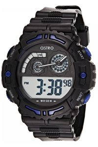 Astro Kids Black Plastic Watch - A8907-PPBBL, black/blue, black, black