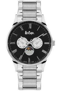 Men's Super Metal Band Watch -LC06434, silver, silver, white